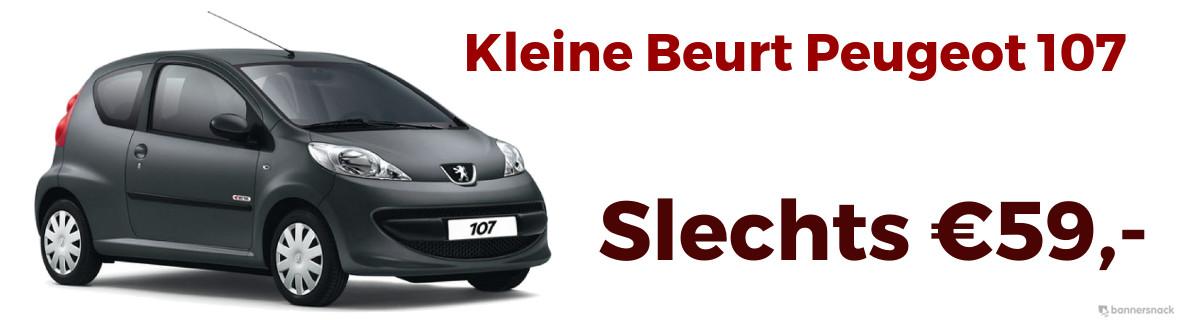 Goedkope kleine beurt Peugeot 107 €59,-