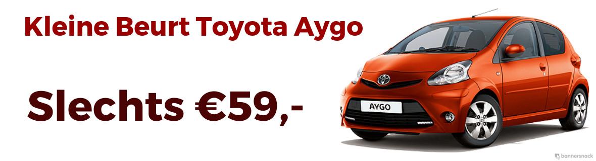Goedkope kleine beurt Toyota Aygo €59,-