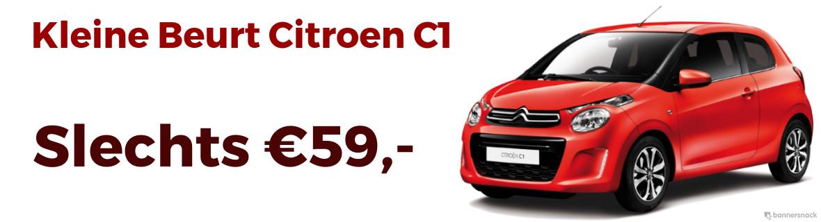 Goedkope kleine beurt Citroen C1 €59,-
