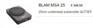 Blam underseat