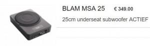 Blam underseat